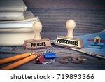 policies and procedures concept.... | Shutterstock . vector #719893366