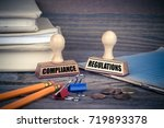 compliance and regulations... | Shutterstock . vector #719893378