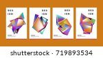 abstract colorful geometric... | Shutterstock .eps vector #719893534