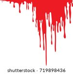dripping blood isolated on... | Shutterstock .eps vector #719898436