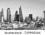 beautiful sky over london. | Shutterstock . vector #719900164