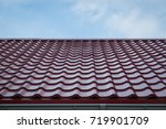 construction of the roof of the ... | Shutterstock . vector #719901709