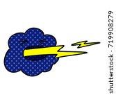 cartoon thundercloud spitting... | Shutterstock .eps vector #719908279