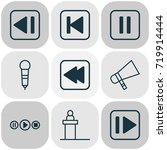 audio icons set. collection of... | Shutterstock .eps vector #719914444