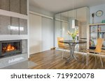 spacious living room with... | Shutterstock . vector #719920078