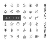 leaf icon set vector... | Shutterstock .eps vector #719923180
