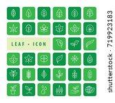 leaf icon set vector... | Shutterstock .eps vector #719923183