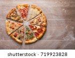 pizza  | Shutterstock . vector #719923828