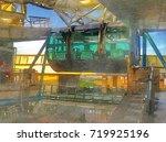 capsule of giant observation... | Shutterstock . vector #719925196