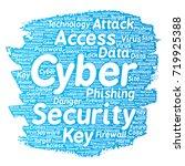 vector conceptual cyber...   Shutterstock .eps vector #719925388