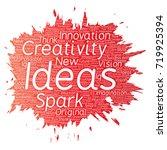 vector conceptual creative idea ... | Shutterstock .eps vector #719925394