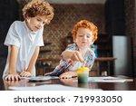 next great artist. cute redhead ... | Shutterstock . vector #719933050
