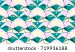 3d abstract geometric... | Shutterstock . vector #719936188