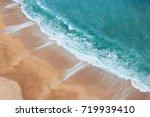 sunny coast and empty sandy... | Shutterstock . vector #719939410