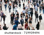 blurred business people crowd... | Shutterstock . vector #719939494
