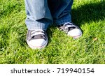 blue jeans and black and white... | Shutterstock . vector #719940154