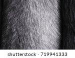 fox fur texture of dark brown...   Shutterstock . vector #719941333