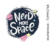 need more space lettering.... | Shutterstock .eps vector #719941768