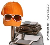 ready vacation suitcase | Shutterstock . vector #719942110
