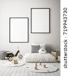 mock up poster frame in... | Shutterstock . vector #719943730