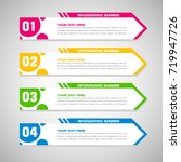 abstract infographic banners   Shutterstock .eps vector #719947726