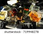 many brands of bottles of...   Shutterstock . vector #719948278