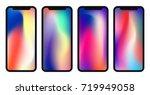vector phone x wallpaper...   Shutterstock .eps vector #719949058