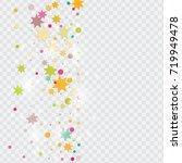 vector multicolored confetti on ... | Shutterstock .eps vector #719949478
