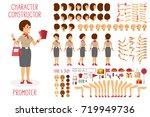 vector character constructor... | Shutterstock .eps vector #719949736