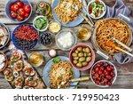 various asian and european...   Shutterstock . vector #719950423