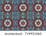 seamless background pattern.... | Shutterstock . vector #719951560