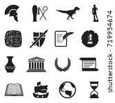 history icons. black flat... | Shutterstock .eps vector #719954674