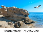 beautiful beach at chalkidiki... | Shutterstock . vector #719957920