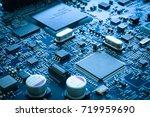 electronic circuit board... | Shutterstock . vector #719959690