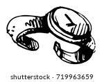 watches  hand drawn line... | Shutterstock .eps vector #719963659