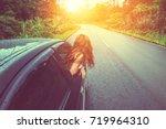 asian women travel relax in the ... | Shutterstock . vector #719964310
