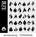 fire collection set. vector | Shutterstock .eps vector #719964430