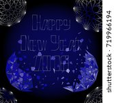 happy new year background with... | Shutterstock .eps vector #719966194