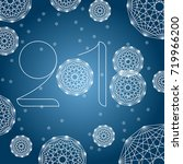happy new year background with... | Shutterstock .eps vector #719966200