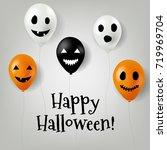 halloween balloons    Shutterstock . vector #719969704