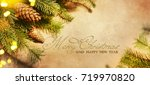 christmas and new year s...   Shutterstock . vector #719970820