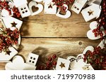 holiday christmas background   Shutterstock . vector #719970988