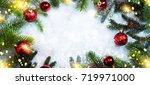 christmas holiday background | Shutterstock . vector #719971000