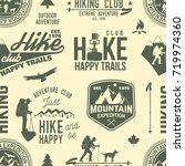 hiking seamless pattern or... | Shutterstock .eps vector #719974360