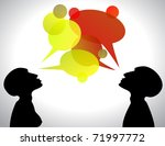 silhouette of cuople with... | Shutterstock .eps vector #71997772