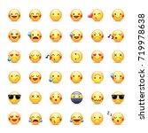 smileys vector icon set.... | Shutterstock .eps vector #719978638
