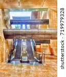 escalator in the city at... | Shutterstock . vector #719979328