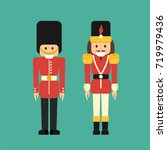 vector set of flat nutcrackers... | Shutterstock .eps vector #719979436