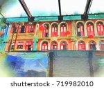 scenery of chinatown market... | Shutterstock . vector #719982010