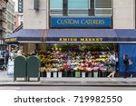 Small photo of New York City, USA - June 8, 2017: Amish market exterior in West Broadway, Manhattan. The Amish are committed to a simple life where one is almost completely self-sufficient.